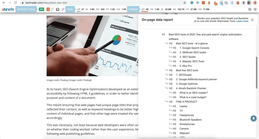 วิธีดูข้อมูล Ahrefs SEO Toolbar Chrome Extension