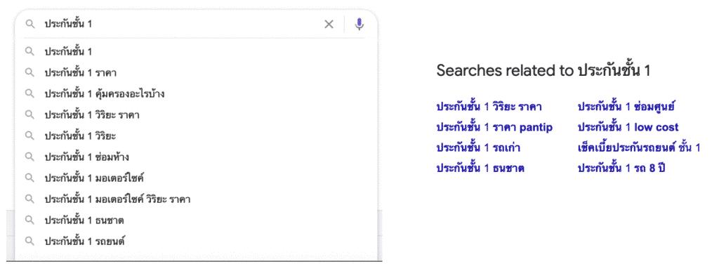 วิธีดูคำค้นหาที่เกี่ยวข้องกับเว็บของเราบน Google